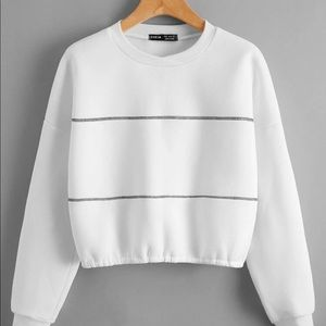 Thick, Thermal, Drop Shoulder Cropped Sweater